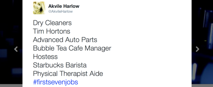 Akvile Harlow First Seven Jobs